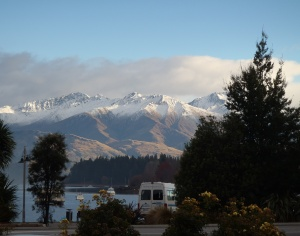 The view from Wanaka town