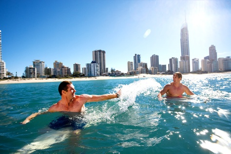 Surfing is a popular pastime at the Gold Coast's stunning beaches. Image courtesy of Gold Coast Tourism.